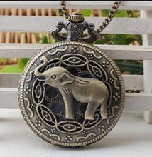 CFB Elefante Oco Quartzo Relógio de Bolso