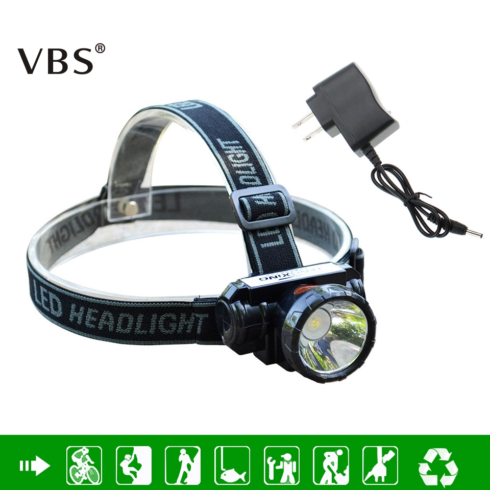 LED Headlamp Osram 5 W Tahan Air Terang Tinggi Built-In Baterai Lithium Isi Ulang Lampu + Charger 2 Mode Head Lamp Cahaya