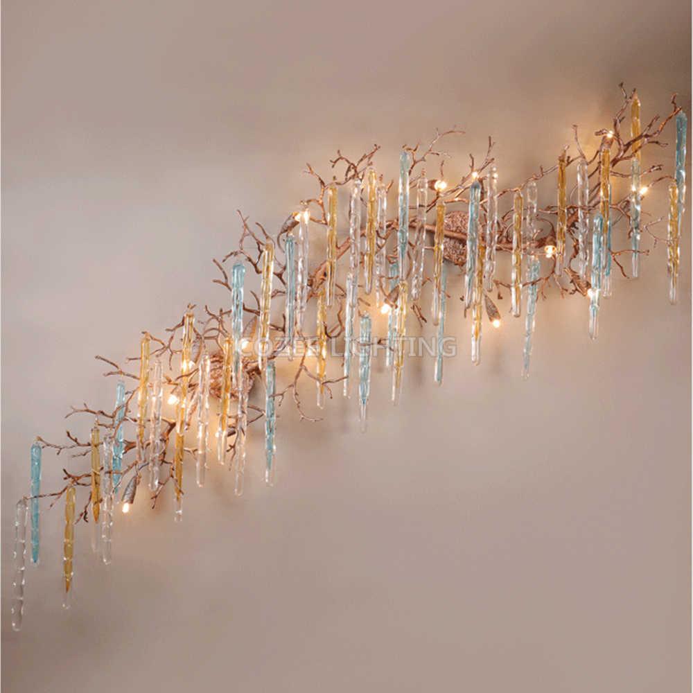 Светодиодный Медь бра латунь настенный светильник Медь филиал люстра, настенные светильники фойе дома Отеле Living Обеденная освещения