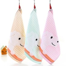 Baby Care Stuff Children Small Kerchief Gauze Cartoon Puppy Towel Wash Ones Face A Piece Of Cloth Water Uptake Mother
