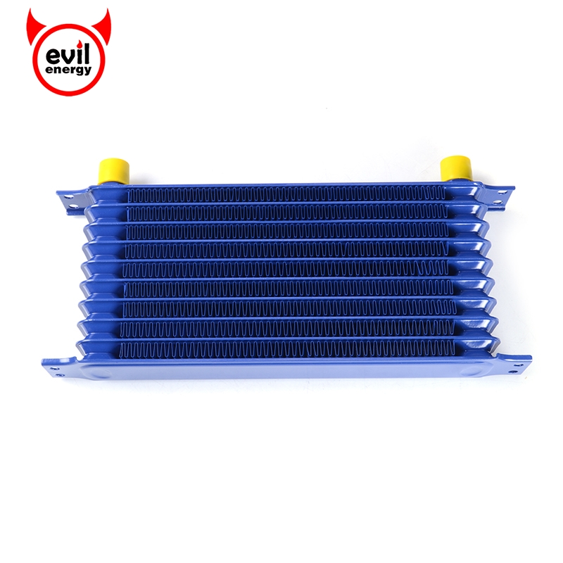 10Row AN10 Universal Engine Transmission Oil Cooler Racing Performance Aluminum Engine Oil Cooler Blue brand new oil cooler cover for 4be1 4bc2 4bf1 npr ks22 8 94438 371 0 oil cooler covers