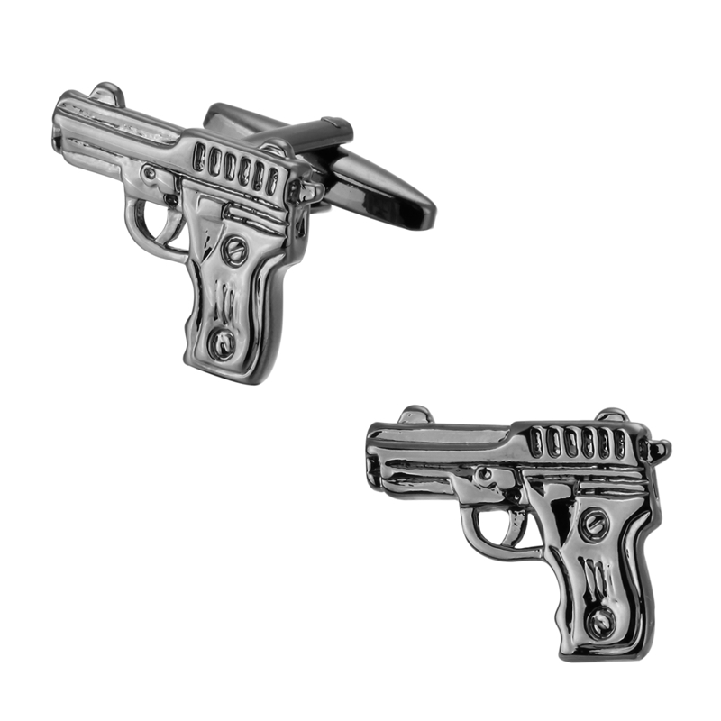 Jewelry & Accessories High-end Mens Shirt Brand Jewelry Cufflinks 007 Classic Design Style Pistol Cufflinks French Shirt Accessories Jewelry Sets & More