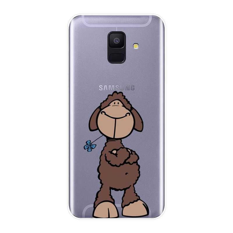 Корова овца коза силиконовый чехол для телефона для samsung Galaxy A6 A8 плюс 2018 мягкая задняя крышка для samsung A6 A7 A8 2018 A3 A5 2016 2017
