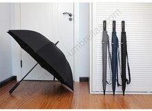 114cm auto open antique anti-thunder fiberglass business windproof umbrella carrying belts waterpoof car commercial parasol