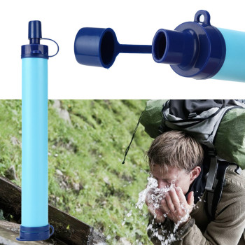 Camping Hiking Emergency Life Survival Portable Purifier Water Filter Straw Gear Safety & Survival
