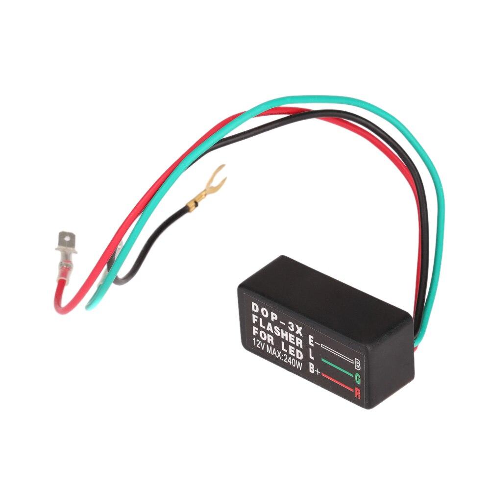 Universal Car Turn Signal Indicator Brake Light Motorcycle 12V LED Halogen Turn Signal Light Flasher Blinker Relay Blinker 3 Pin