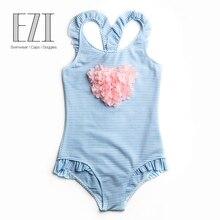 July Sand/; детский купальный костюм; одежда для купания для маленьких девочек; мягкий слитный купальник с бантиком, украшенный цветами и помпонами; 394