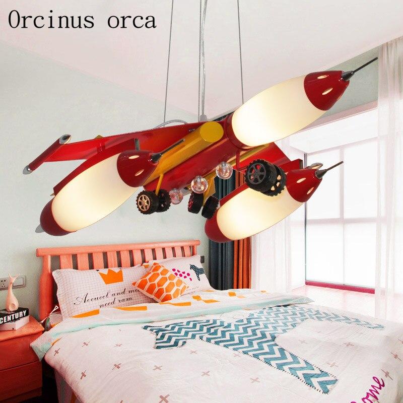 Креативная мультяшная авиационная Люстра для детского сада, детская комната для мальчиков и девочек, современная светодиодная Люстра для з... - 5