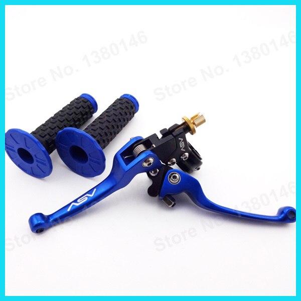 """Синий ASV складывающаяся муфта тормозной рычаг+ 7/"""" рукоятка мягкий дроссельной заслонки штыри для мотокросса МХ, Dirt Pit Pro Bike XR50 в байкерском стиле"""