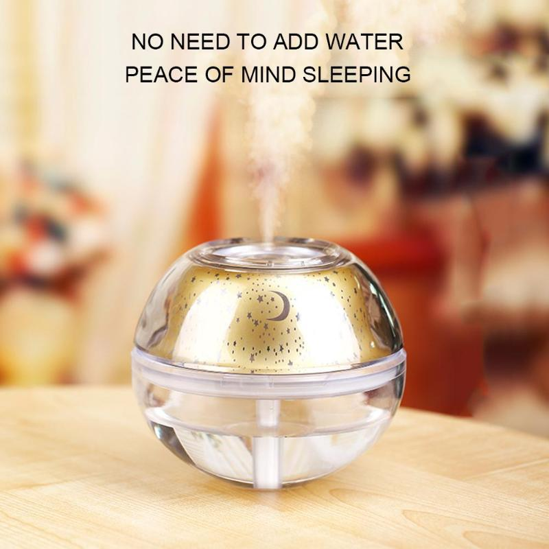 500ml USB Air Humidifier Essential Oil Diffuser Mist Maker Fogger Mute Aroma Atomizer Air Purifier Night Light for Home hot sale mount fuji air humidifier mute usb volcano diffuser home office colorful light mist maker fogger 3 colors