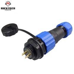 50 pcs SP16 SP17 Série Conector À Prova D' Água Excelente Qualidade 2 ~ 9 pinos IP68 Aviation Plug & Soquete do conector do cabo masculino e Feminino