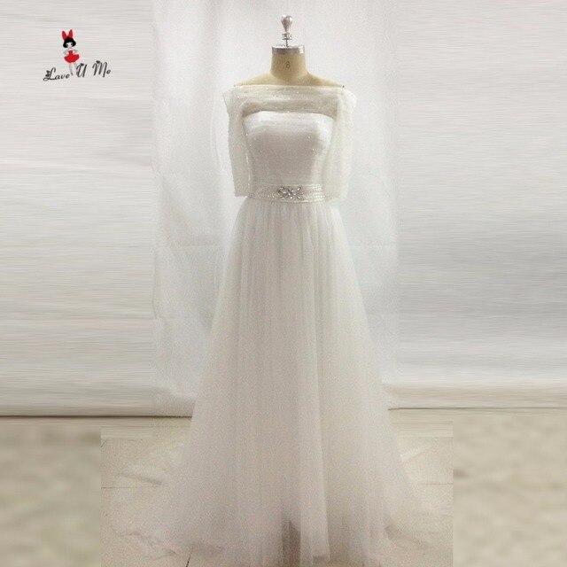 98 09 20 De Reduction Robe De Mariee Simple Pas Cher Importe Chine Robes De Mariee Hors Epaule Demi Manches Cristal Ceinture Robe De Mariee Robes