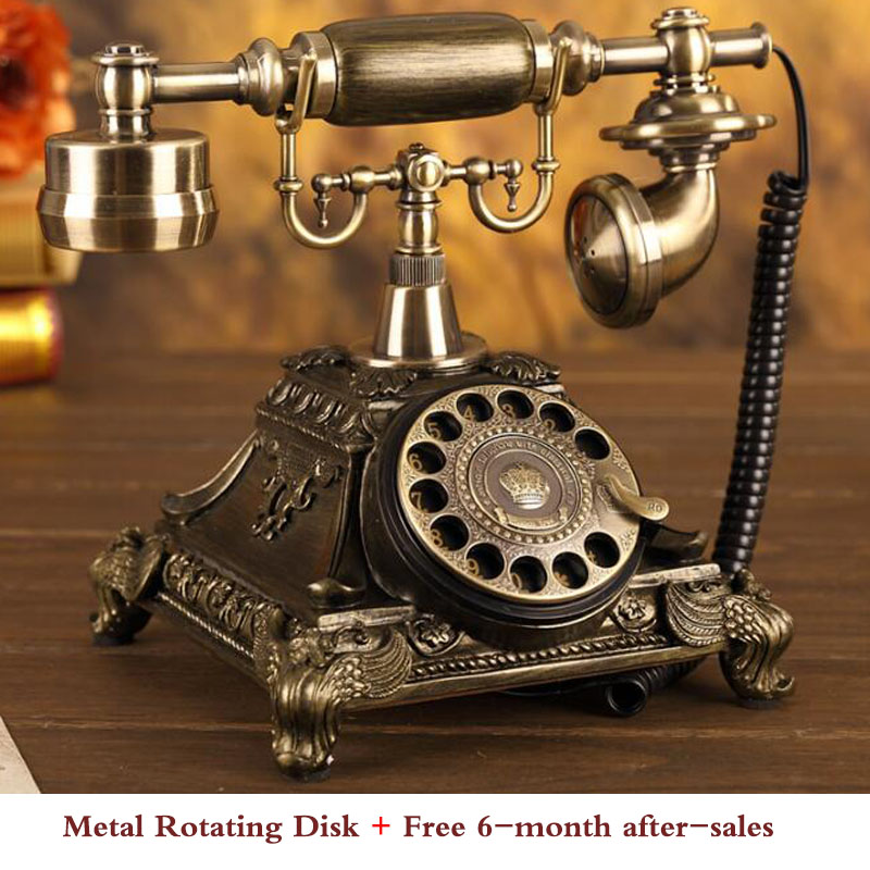 European Fashion Vintage Telephone Swivel Plate Rotary Dial