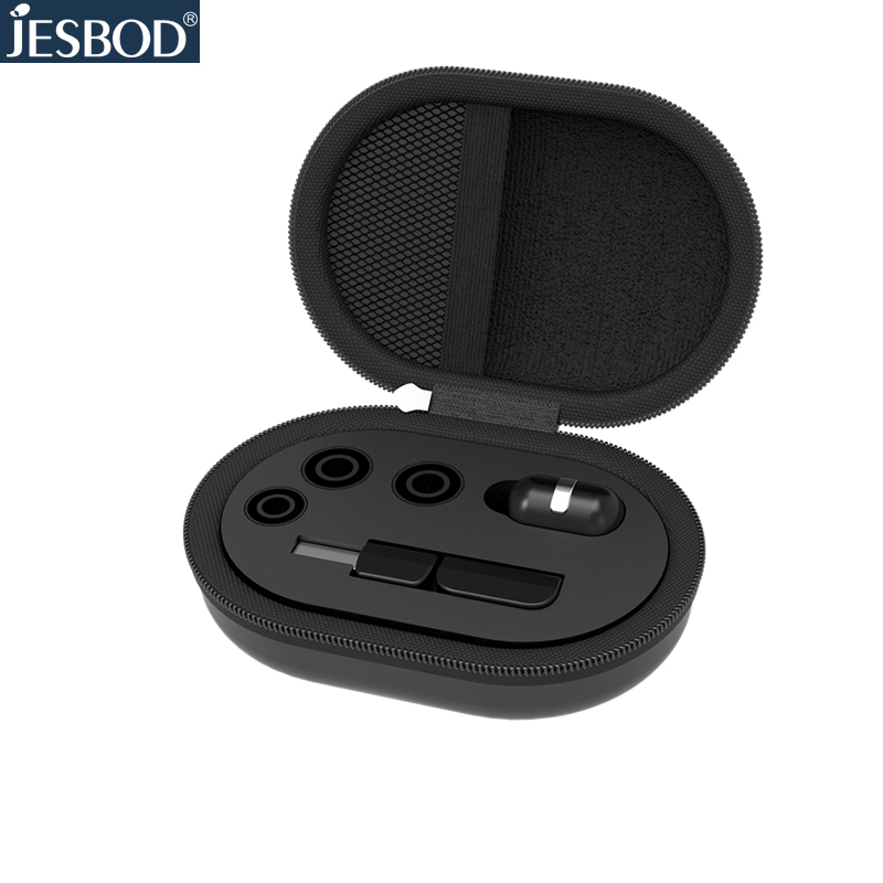 Jesbod business earbud wireless invisible headset with MIC hand free calling bluetooth earphone for iPhone xiaomi samsung qcy q26 mono earbud business mini headset car calling wireless headphone bluetooth earphone with mic for iphone 6 7 s8 android