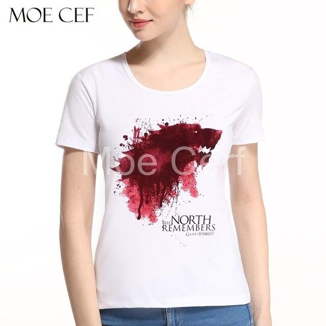 da23fb52126 2017 Summer Games Of Thrones Women Tops Winter Is Coming Stark Wolf Priting  T-shirt Summer Fashion T Shirt Female Tops L9-N-33