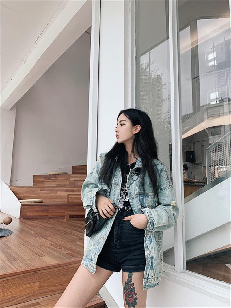 HTB1ZAVsbMmH3KVjSZKzq6z2OXXaR RUGOD 2019 New Autumn Funny Cartoon Print Long Denim Jacket Women Vintage Streetwear Punk Style Jean Jacket casaco feminino
