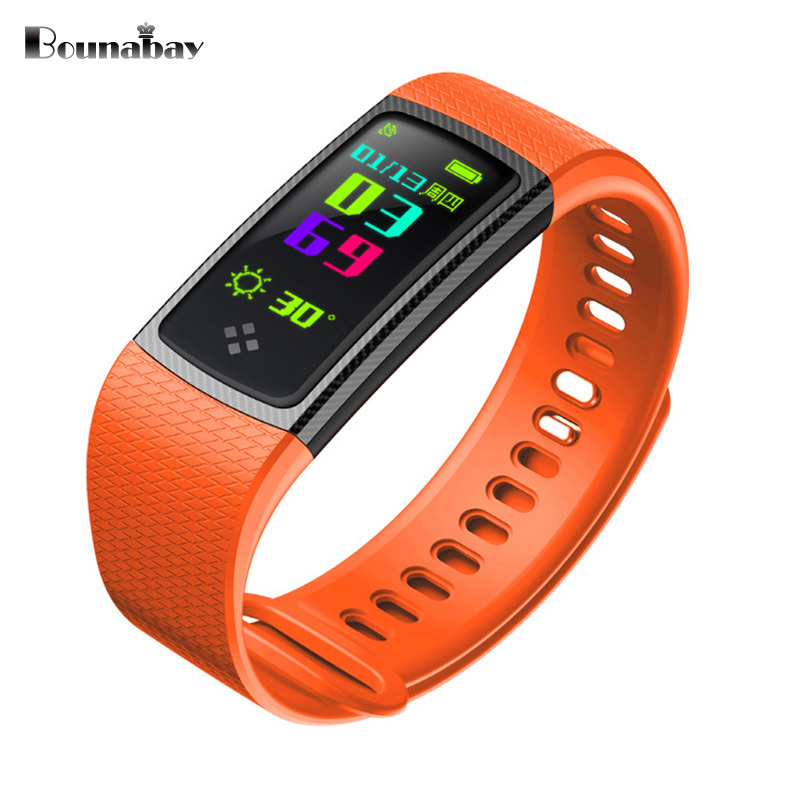 BOUNABAY Heart Rate Pedometer Bluetooth Smart woman watch for apple android phone waterproof Camera women Clock Touch 3g Clocks