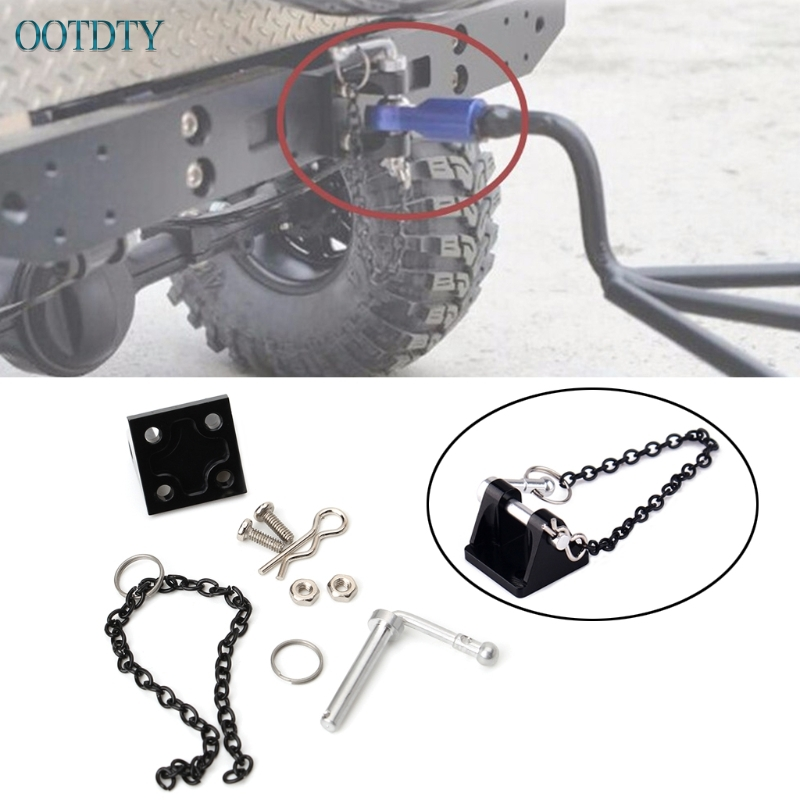 New 1:10 RC Rock Crawler Metal Tow Shackle Trailer Hook for Axial SCX10 90046 RC4WD #330 10x mini metal tow hook