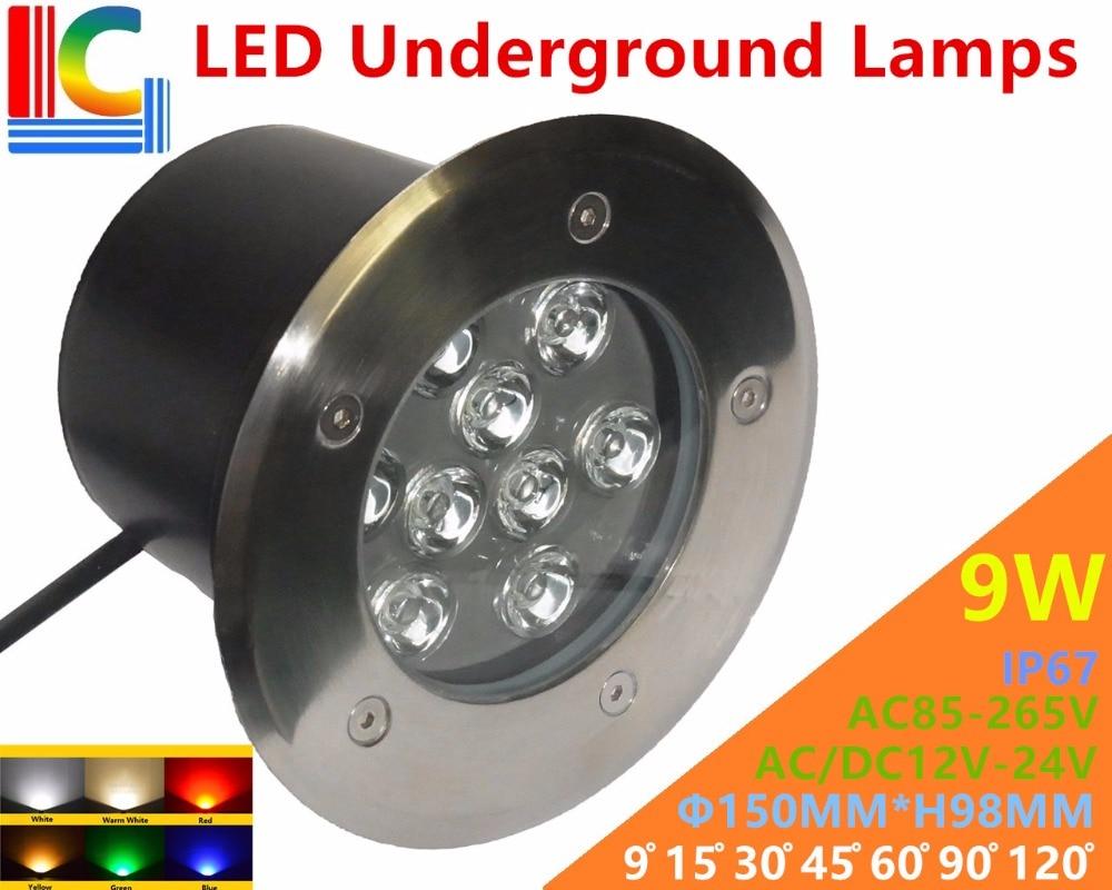 Led Underground Lamps Energetic 12w Led Underground Lamps 12v 24v 110v 220v 85-265v Outdoor Ip67 Waterproof Buried Lights Dmx512 Color Garden Lighting Ce