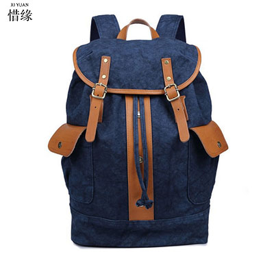 XIYUAN BRAND Men's canvas Backpack Vintage School STUDENT Bag Rucksack casual Leisure Travel Bag Men's Laptop Backpacks GIFTS vintage multifunction business travel canvas backpack men leisure laptop bag school student rucksack