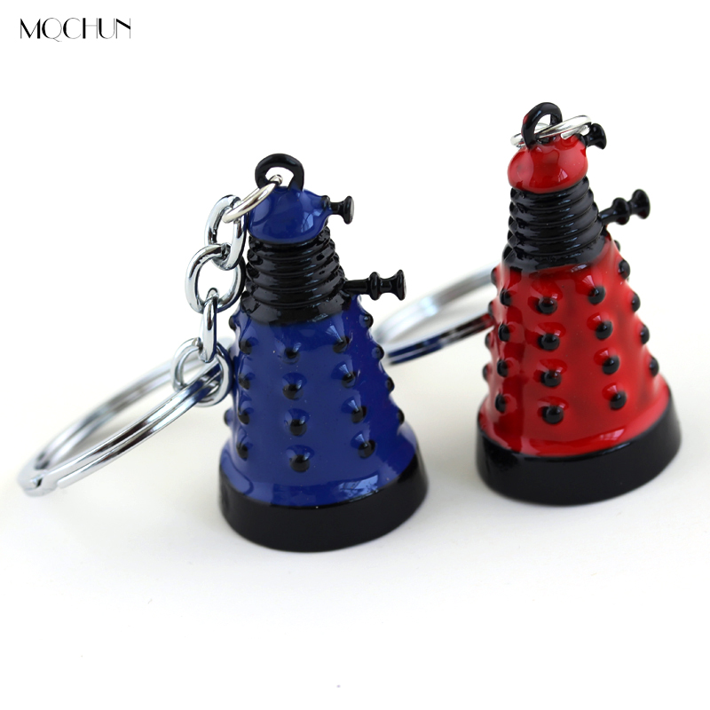 MQCHUN Dr Who Dalek Alloy Pendent Fashion Keychain Car Retro Alien Robotic Key Chain for Women Men's Jewelry Gift image