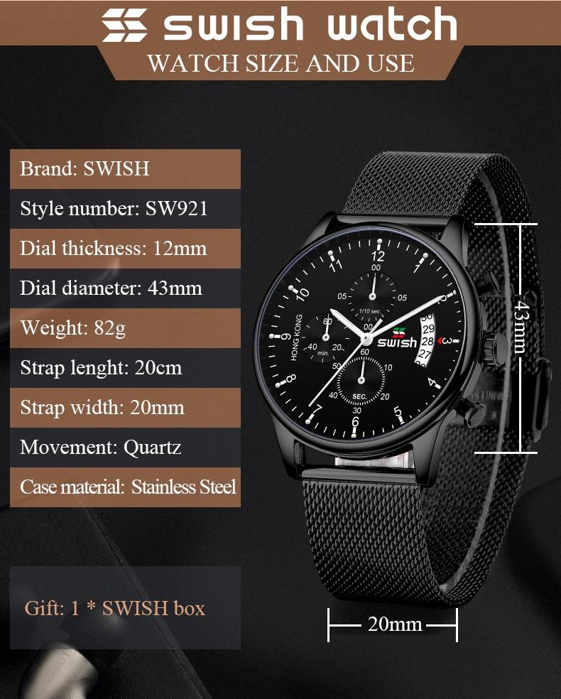 HTB1ZAWAbLc3T1VjSZPfq6AWHXXaE SWISH 2019 Top Brand Luxury Mens Watches Waterproof Stainless Steel Wristwatch Mens Chronograph Casual Quartz Watch