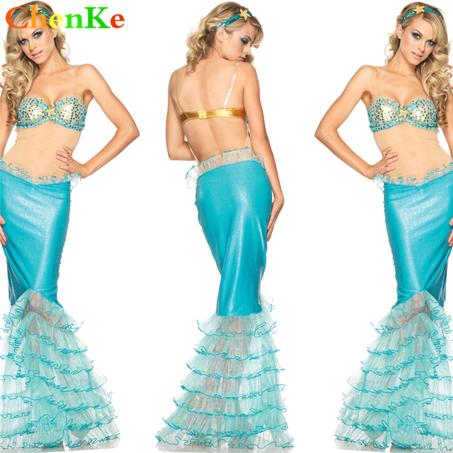 ChenKe Halloween Sexy Women Cosplay Mermaid Skirt Princess Stage Show Costume Adult Nigntclub Romantic Beauty Sea  sc 1 st  AliExpress.com & ChenKe Halloween Sexy Women Cosplay Mermaid Skirt Princess Stage ...