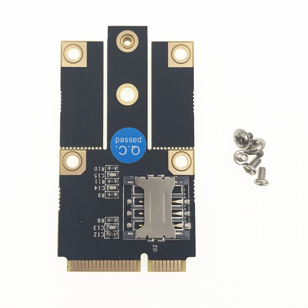 M.2 NGFF B Key To Mini PCI-E PCIE Converter Adapter Card Kit With SIM Card Slot Support 3G 4G LTE Network Adapter Module For PC