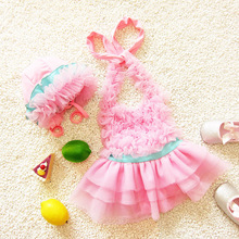 Bikini Set Baby Kids Swimwear One Pieces Brand New Cute Children Swimsuit Single Tulle Lace Dress Bathing Suit