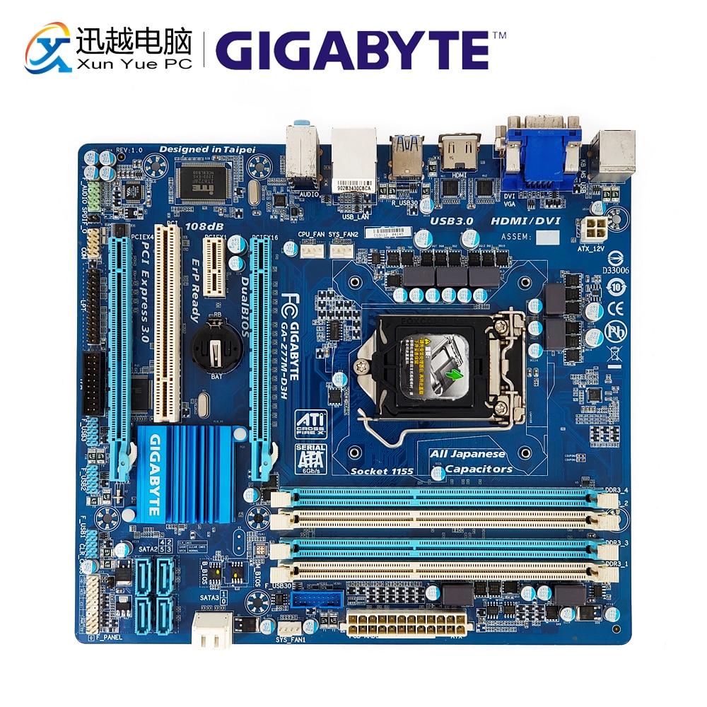 Gigabyte GA-Z77M-D3H Desktop Motherboard Z77M-D3H Z77 LGA 1155 i3 i5 i7 DDR3 32G SATA3 USB3.0 VGA DVI HDMI Micro-ATX