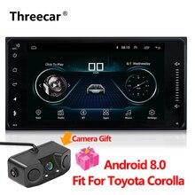 2 DIN Универсальный Android 8,0 автомобиль DVD плеер с gps навигация Радио стерео для авто Toyota Corolla радио мультимедиа 1024*600