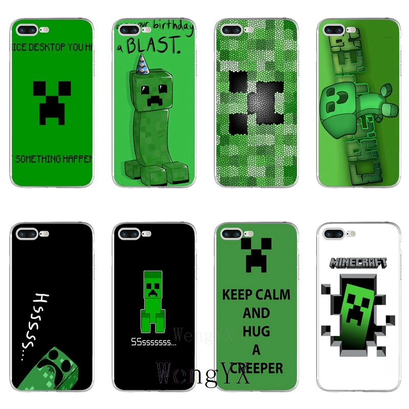 online store 07140 83bd6 US $1.99 |game minecraft creeper Slim silicone TPU Soft phone case For  Samsung Galaxy S3 S4 S5 S6 S7 edge S8 S9 Plus mini Note 3 4 5 8-in  Half-wrapped ...