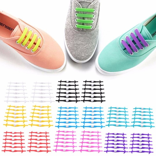 Creative Design Shark Type Arrow Design No Tie Shoelaces Silicone Unisex Women Men Shoe Lace All Running Sneakers