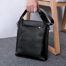 купить BAQI Brand Men Handbags Genuine Leather Cowhide High Quality Men Crossbody Messenger Bag Shoulder Bag 2019 Fashion Business Bag по цене 2507.55 рублей