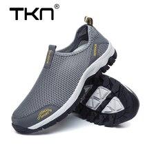 TKN 2019 Летняя мужская уличная походная обувь из сетчатого материала дышащая быстросохнущая обувь без шнуровки уличные кроссовки мужские треккинговые тропы 1812