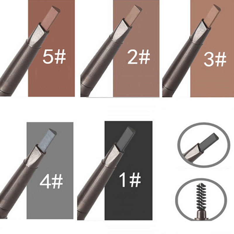 5 Colors Waterproof Eyebrow Pencil Pen Eye Brow Liner Cosmetic Makeup Beauty Tool Lasting image