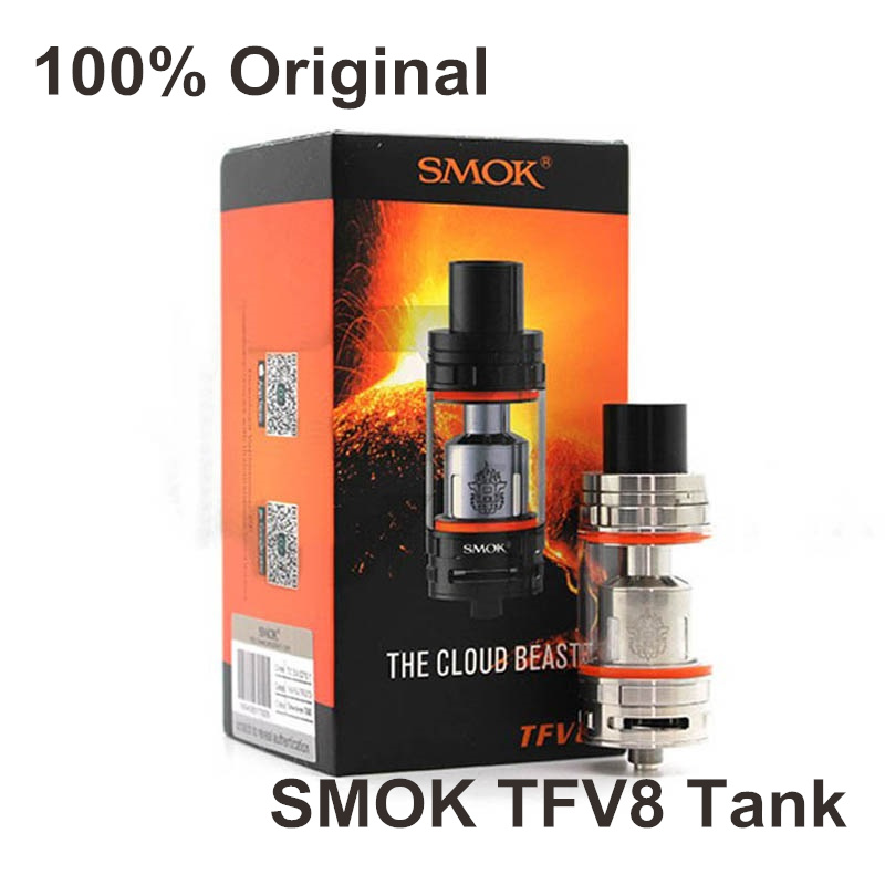 Original Smok TFV8 Atomizer 6ml Top filling Airflow Control Cloud Beast SUB OHM TANK With V8
