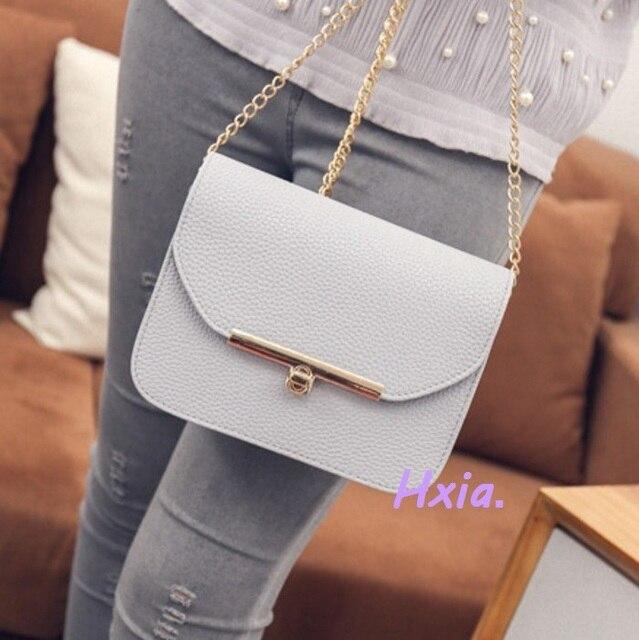 Frete grátis, 2019 novas bolsas femininas, moda versão Coreana bolsa de ombro, saco do mensageiro da cadeia, saco de mulher doce.