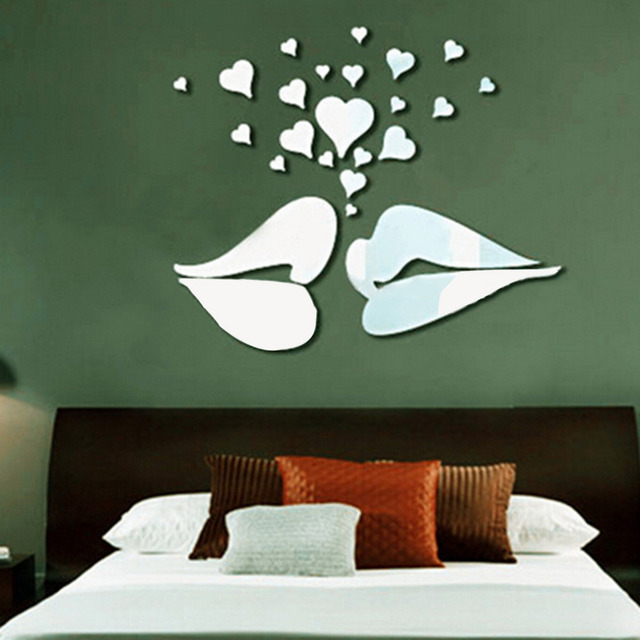 Home Decor Bedroom 70 bedroom decorating ideas how to design a master bedroom Big Kiss Lips Vinyl Wall Stickers Decals Diy Art Mural Home Decor Bedroom Wedding Room