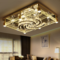 IWHD Tricolor dimmable Lamparas de Techo Mdern Crystal Led Ceiling Lamps For Living Room Bedroom Plafon Home Lighting Fixtures