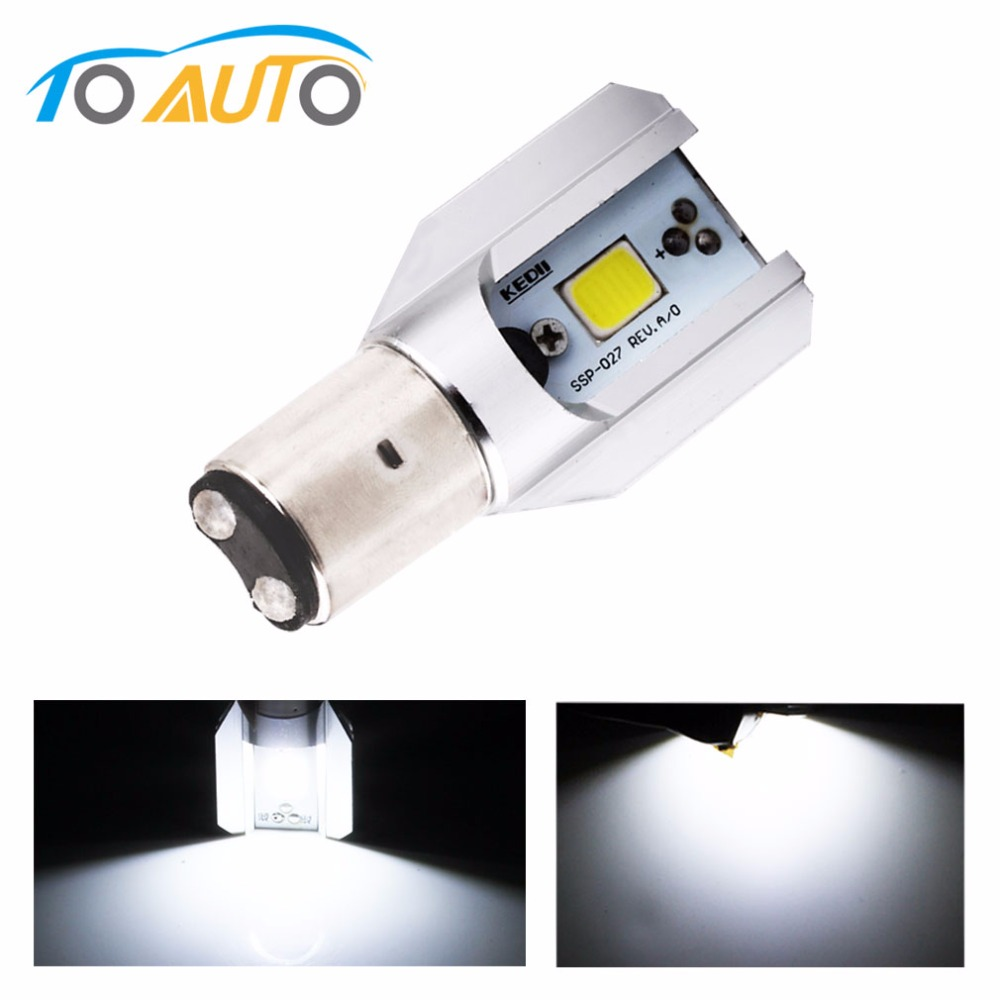 H6 Led Motorcycle Headlight Bulbs COB Led 1000lm BA20D Lamp Scooter ATV Moto Accessories Fog Lights For Suzuki
