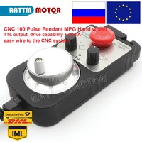 CNC 100 Pulse Pendant MPG Hand wheel Emergency Stop for CNC Router Engraving Milling Machine