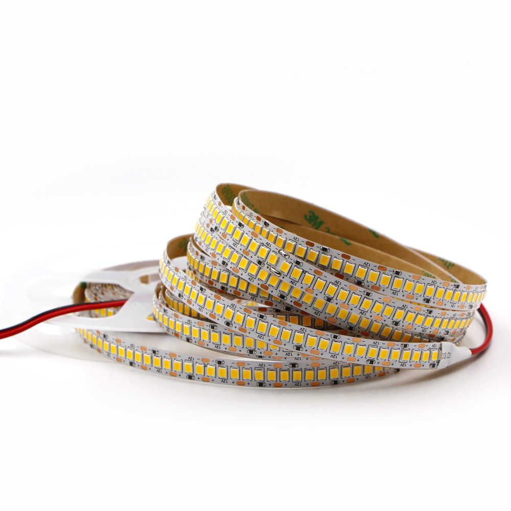 5m 12 v 2835 led strip super brilhante 240 leds/m à prova dwaterproof água alta brilhante flexível led corda fita lâmpada de luz interior decoração para casa