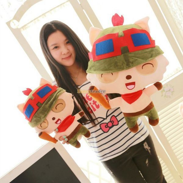 Fancytrader 33'' / 85cm Super Cute Soft Plush Biggest  LOL Teemo Toy, Nice Gift and Decoration Toy, Free Shipping FT50149 fancytrader limited edition item 28 70cm big super soft cute plush roco kingdom abu toy great gift free shipping ft50189