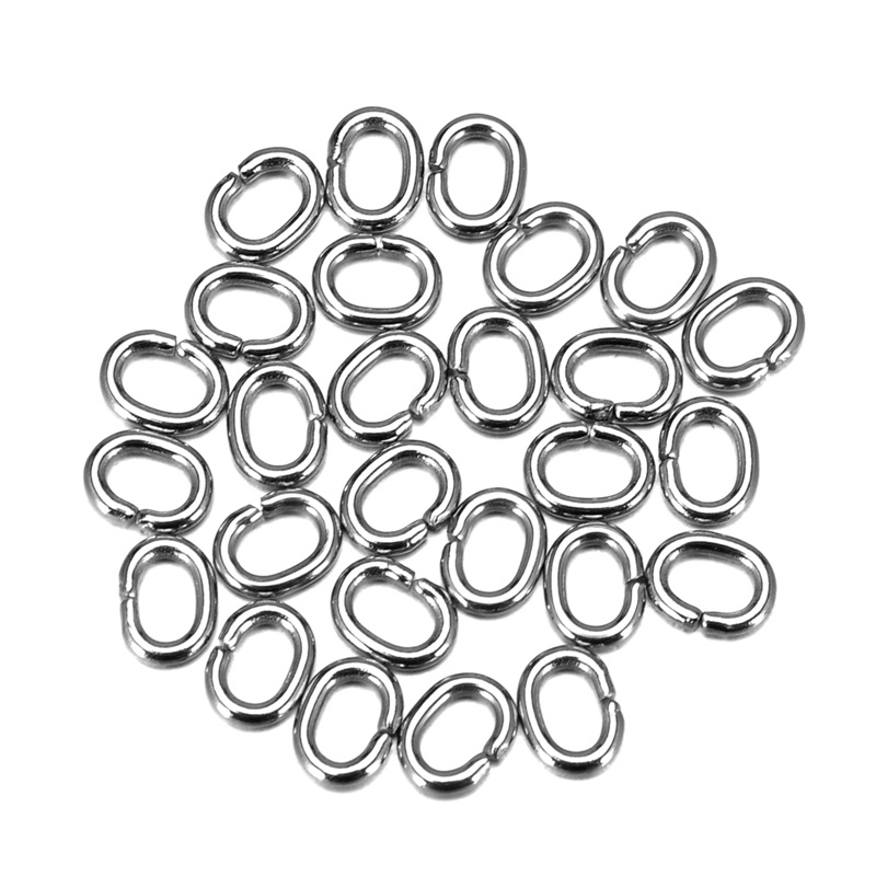 Valyria 100pcs/lot Stainless Steel Silver Tone Oval Open Jump Rings DIY Jewelry Accessory