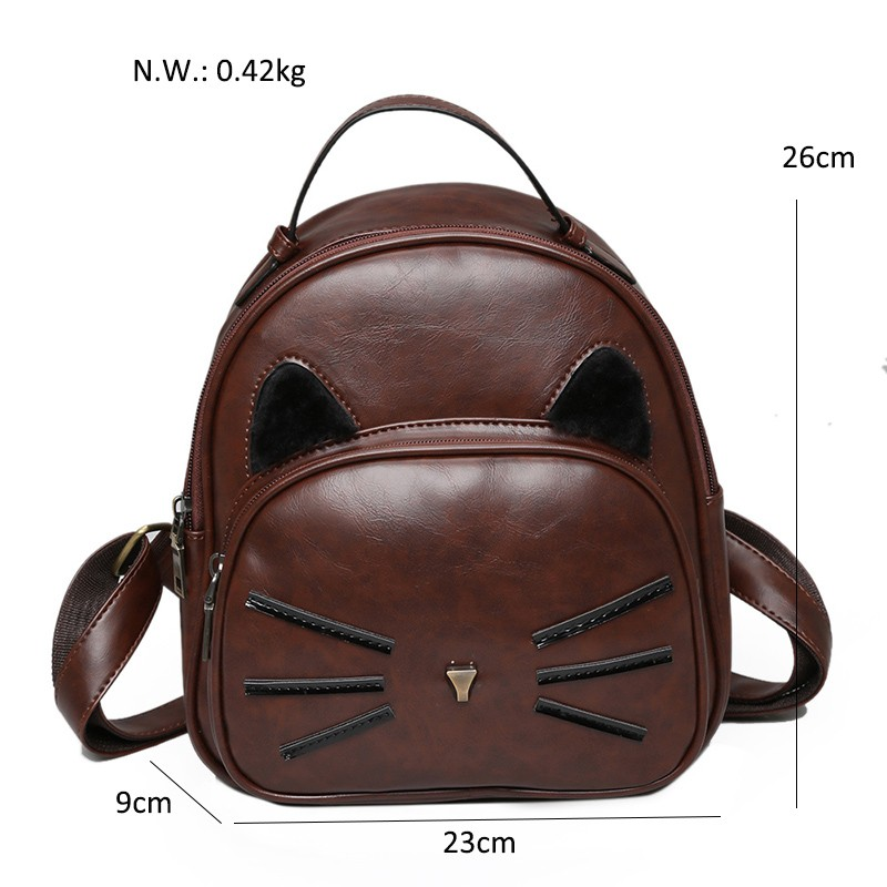 Kawaii Cat Ear Backpack Black Preppy Style School Backpacks For Teenage Girls College Style Casual Backpack Sac Mochilas on Sale (40)