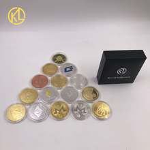 Commemoration-Coin Coin-Btc Gold Silver-Plated Cryptocurrency Ripple Metal 1-Pc
