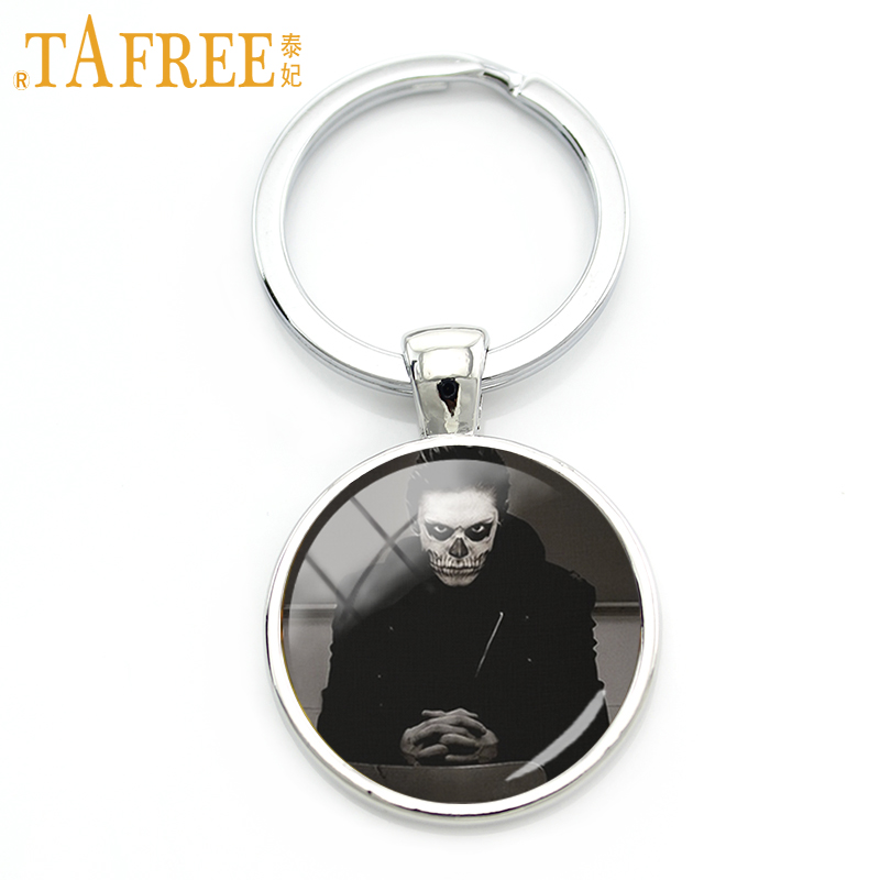 TAFREE Halloween keychain cartoon Characters in famous movies art picture glass cabochon personalized Vintage 2017 jewelry A751