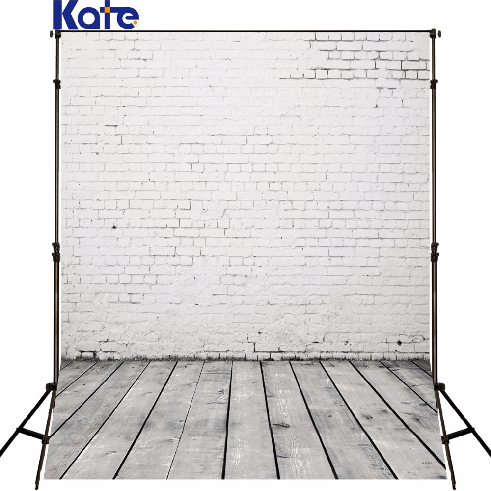 Kate White Solid Brick Wall and Wood Floor Backgrounds For Photo Studio Photography Baby Backdrops Fondos De Estudio Fotografia allenjoy photography backdrops white and gray brick wall brick floor backgrounds for photo studio photography studio backgrounds