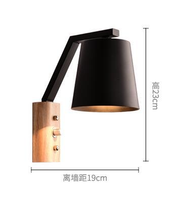 Kreative Holz Eisen Wandleuchten Moderne LED Wandleuchten Treppen Leuchten Für Schlafzimmer Wandleuchte Home Innenbeleuchtung Lamparas - 6